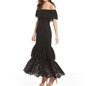 Gianni Bini Laney off the shoulder tiered dress